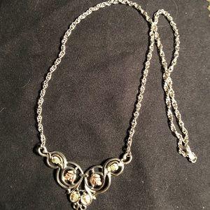 Sterling black hills gold necklace